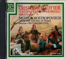 Cristobal HALFFTER Concerto for Cello & Orchestra / Parafrasis Cd Rostropovich