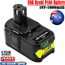 2-pack 18v 5.0ah Li-ion Battery for Ryobi 18v One Tool Rb18l50 Rb18l40 P108
