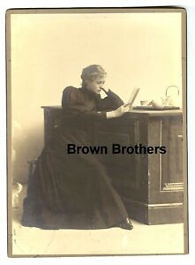1900s Broadway Star Maude Adams Bauble Shop Oversized Mounted Cabinet Photo #1