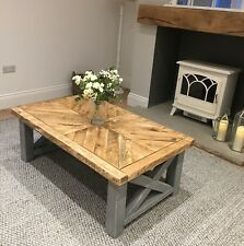 HANDMADE WOODEN COFFEE TABLE / DISTRESSED PAINTED ~ ALL SIZES MADE / COLOURS