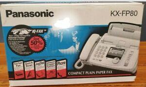 Panasonic KX-FP80 IQ Fax Paper Machine Plain Paper Copier Phone NEW