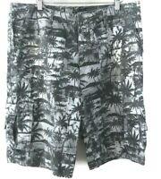 Mambo Men's size 38 Shorts Grey Cargo Cotton Palm Print