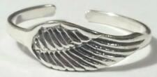 Angel Wing Toe Ring Adjustable 925 Sterling Silver