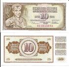 YUGOSLAVIA 10 DINARA 1978 P 87 LOTE DE 5 BILLETES