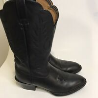 ARIAT Heritage Roper Black Leather Cowboy Western Boots Womens Size 7 B US