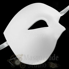 Mens Half Phantom of the Opera Venetian Costume Masquerade Mask [White]