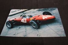 "Photo Ferrari 156 ""Sharknose"" 1962 #40 Willy Mairesse (BEL) GP Monaco"