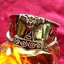 Thor Hammer Ring Bronze Wikinger Larp Asatru Schonen 17 mm