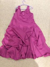 Girls Monsoon Party Dress - Pink bubble effect ..Age 11 - 12