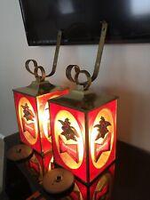1968 Vintage Budweiser Lanterns W/Brackets