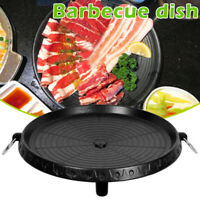 Barbecue Baking Dish Round Plate Non-stick Pan for Home Outdoor Camping
