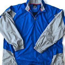 Blue Mizuno Performance Impermalite Tech Men XXL Running 1/2 Zip Pullover Jacket