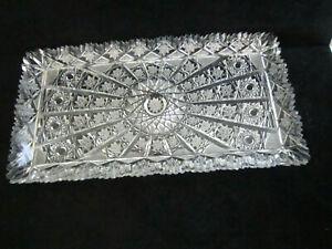 American Brilliant Cut Glass Tray