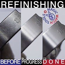 3 x Refinishing Pad! - Satin (Brushed) GOLD/STEEL/TITANIUM/Watch Scratch Removal