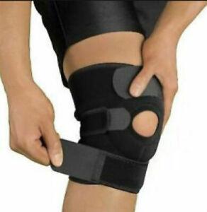 Knee Support, Open-Patella Stabiliser & Fully-Adjustable Neoprene Brace Sleeve