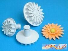FIMO CERNIT - Set 3 mini stampini taglia pasta Plunger Cutters - Fiore/Girasole