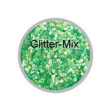 Gliiter-Mix GRÜN irisierend 3 g in Zip Tüte