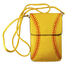 Softball Cell Phone Touch View Cross Body Bag