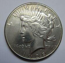 1928 Peace Dollar - AU - KEY COIN