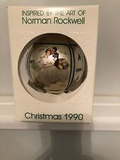 Vintage 1990 Schmid Norman Rockwell Series Glass Ball Christmas Tree Ornament