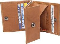Leder Geldbörse WIENER SCHACHTEL Safari  mit RFID Geldbeutel Portemonnaie braun