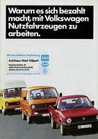 VW Nutzfahrzeuge Prospekt 1984 3/84 brochure Caddy Transporter Bus Bulli LT
