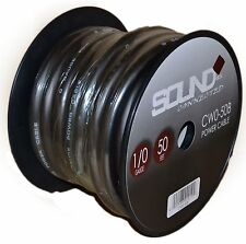 0 Gauge Wire Black Amplifier Power/Ground 1/0 Amp Wire 50 Feet Spool Cable Roll