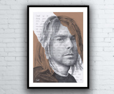 Kurt Cobain Ritratto Disegno ART PRINT odora di TEEN SPIRIT NIRVANA TESTI
