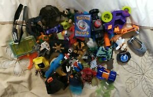 Large Lot of Action Figures Misc Parts Pieces Characters CHECK IT OUT AS-IS AF-4
