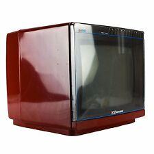 """1980s Emerson EC10R Television Red 10"""" Antenna Retro Vintage Color TV Portable"""