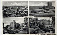 OBERHAUSEN 1936 Dt. AK Mehrbild-AK ua. Hauptbahnhof Bahnhof Grillopark Tram