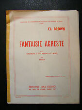 Partition Fantaisie Agreste Hautbois Piano Ch Brown 1955 Music Sheet