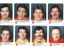 1985-86 Calgary Flames Red Rooster Safety Set NRMT