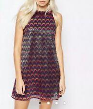 ASOS Glamourous Tall Mermaid Irredecent Scale Dress Sz:12 Holiday NWT Metallic