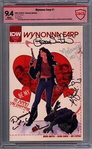 Wynonna Earp #1 February Special CBCS 9.4 Signature Series Cast Melanie Scrofano