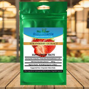 Fisetin 100% Pure Strawberry Extract  Vegetable Capsules