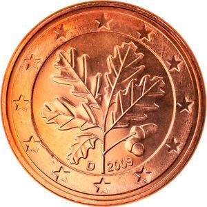 [#818943] République fédérale allemande, 5 Euro Cent, 2009, Munich, FDC, Copper