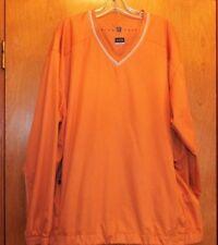 Nike Golf Clima-fit Jacket 2XL Orange Lightweight Windbreaker Pullover EUC