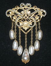 Miriam Haskell Vintage Faux Pearl Pin or Brooch