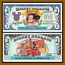 "Disney 1 Dollar, 1993 Series ""DA"" Walt Disney World Uncirculated"