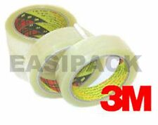 "18 Rolls of 3M Scotch 371 CLEAR Packing 1"" Tape 25mm x 66m"