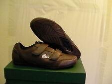 Lacoste matsudo shoes sec usa spm lth dk brw/dk blu size 8 us new with box