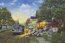 """Dave Barnhouse """" Spring Cleaning """" Master Canvas # 65/195 W/CERT Classic Cars"""