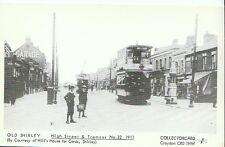 Hampshire Postcard - Old Shirley - High Street & Tramcar No. 32, 1911-  A3881