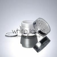 50G PEARL WHITE ACRYLIC CREAM JAR WITH FLOWER SHAPE LID - NEW 100PCS/LOT