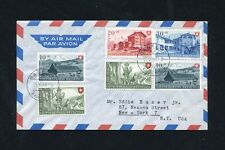 Switzerland 1948 Pro patria uncacheted,addressed flown cpt set FDC to USA