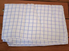 "Vintage WOOL Blend Purple White Square Plaid Cutter Quilting Fabric 48"" x1.8 yds"
