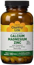 Country Life Target Mins Calcium Magnesium Zinc With Vitamin D - 180 Tablets