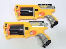Lot of 2 Nerf N-Strike Maverick Rev 6 Dart Guns LET THE BATTLE BEGIN!