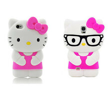 3D Cartoon Hello Kitty Silicone Phone Case For iPhone SE 5 6 7 8 Samsung Huawei